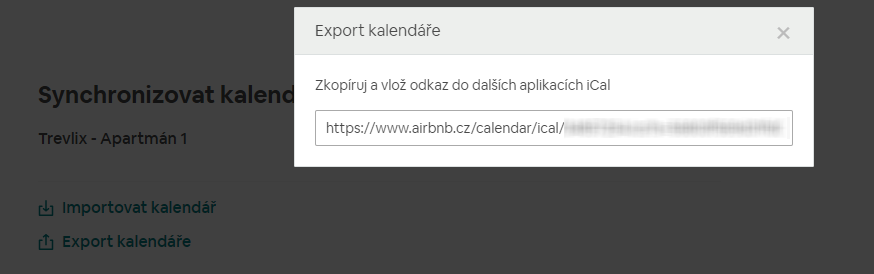 Airbnb export iCalendar