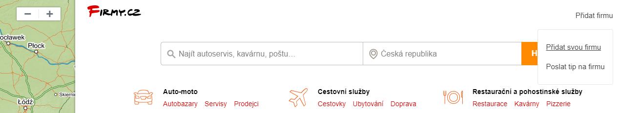 Mapy.cz - přidat ubytování