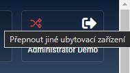 2 ikona přepnout jiné ubytovací zařízení
